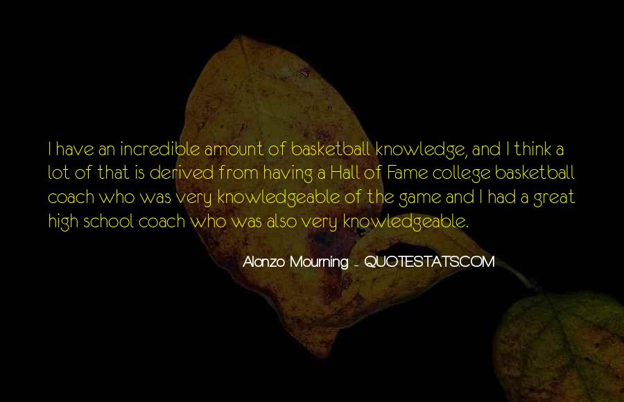 Quotes About College Basketball #993033