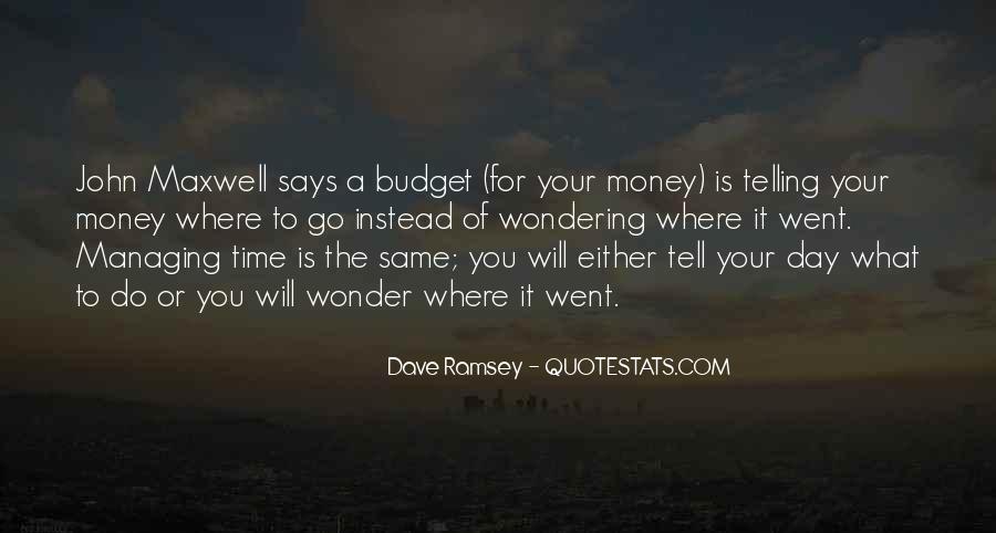 Money Managing Quotes #1425926