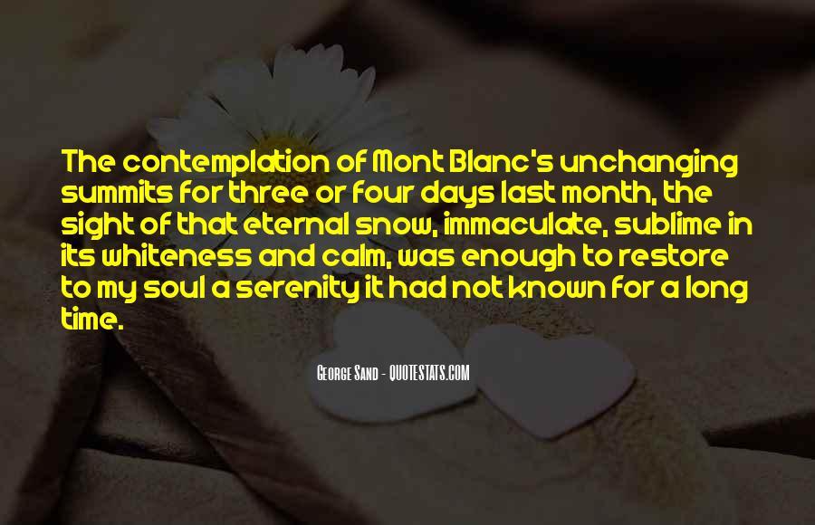 Mont Blanc Quotes #170191