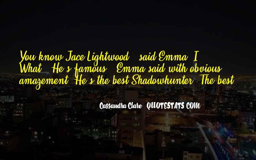 Mortal Instruments Best Jace Quotes #255129