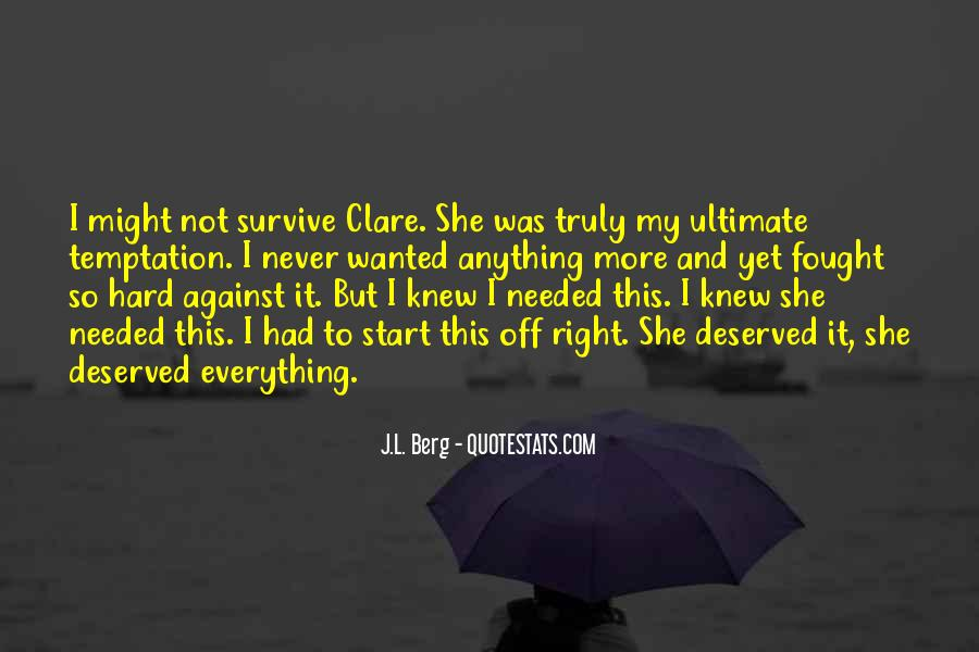 Quotes About Clare #18073