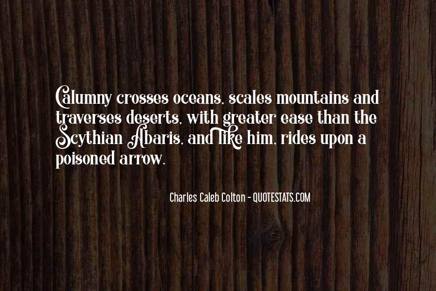 Mountains And Oceans Quotes #1035457