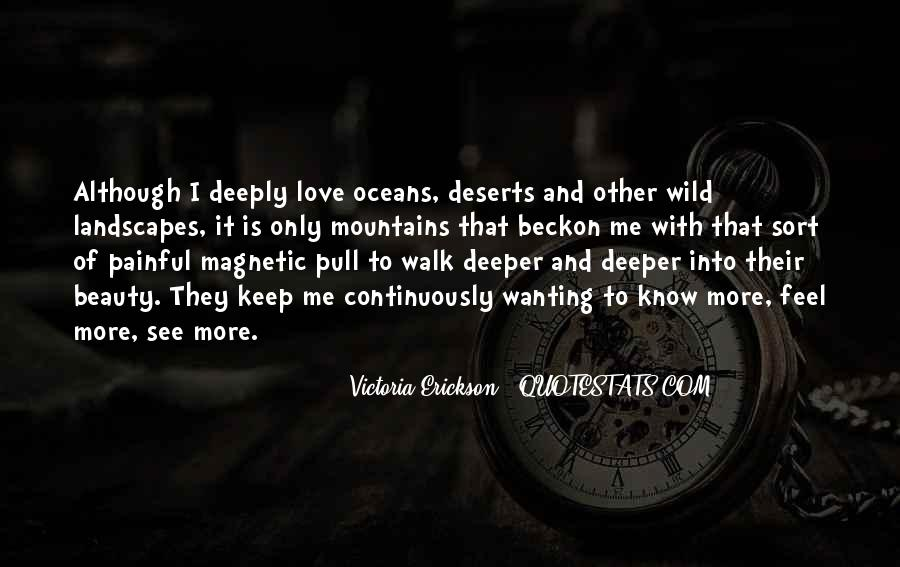 Mountains And Oceans Quotes #1522911