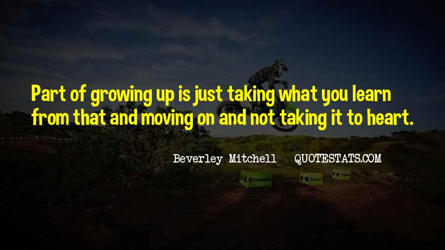 Moving On Up Quotes #285622