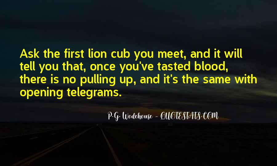 Mr Cub Quotes #144899