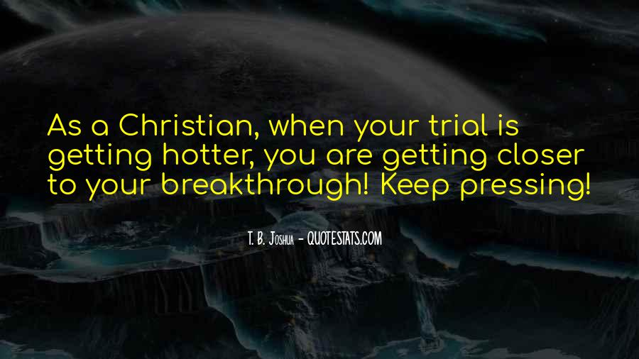 Quotes About Christian Breakthrough #1026647