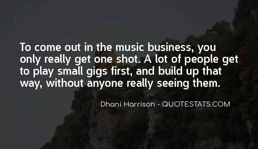Music And Business Quotes #112893