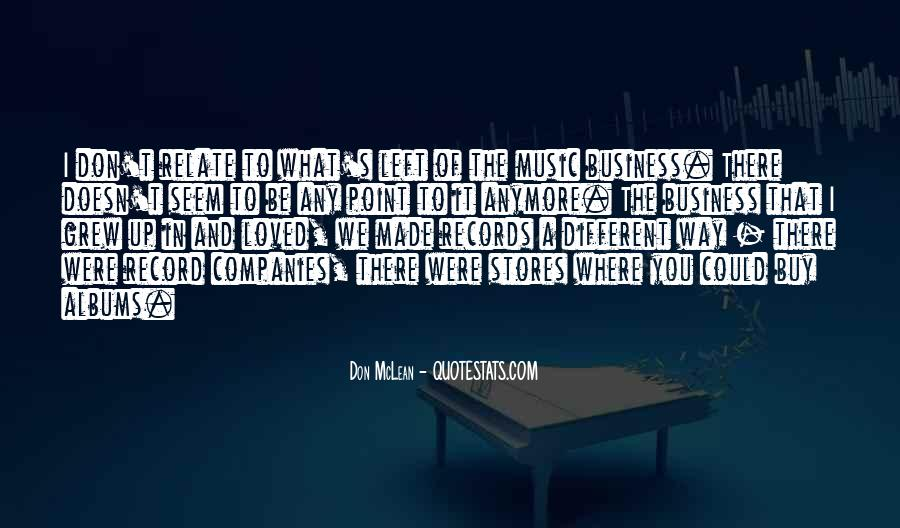 Music And Business Quotes #13195