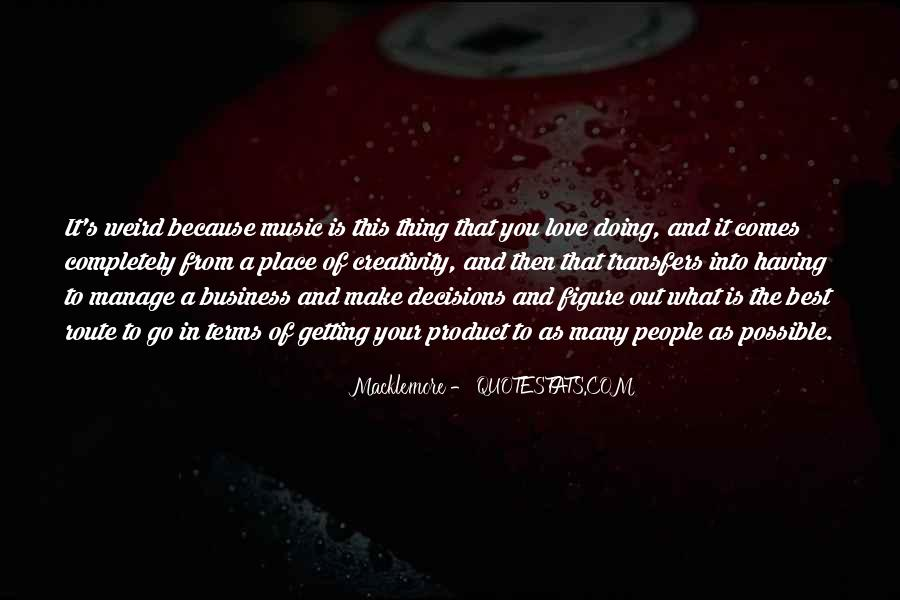 Music And Business Quotes #202395