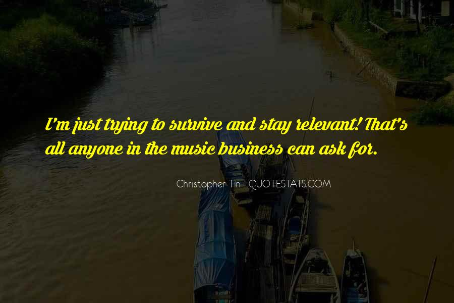 Music And Business Quotes #239510