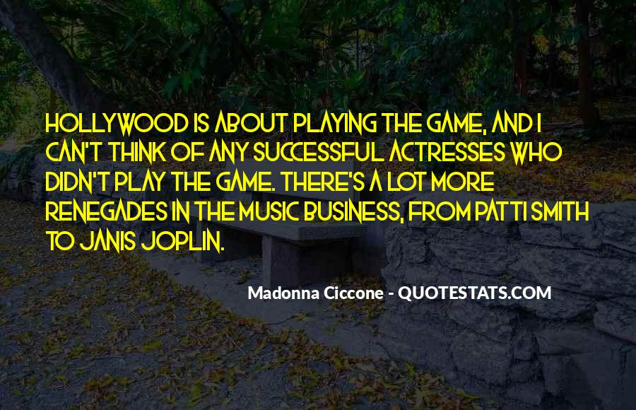 Music And Business Quotes #473354