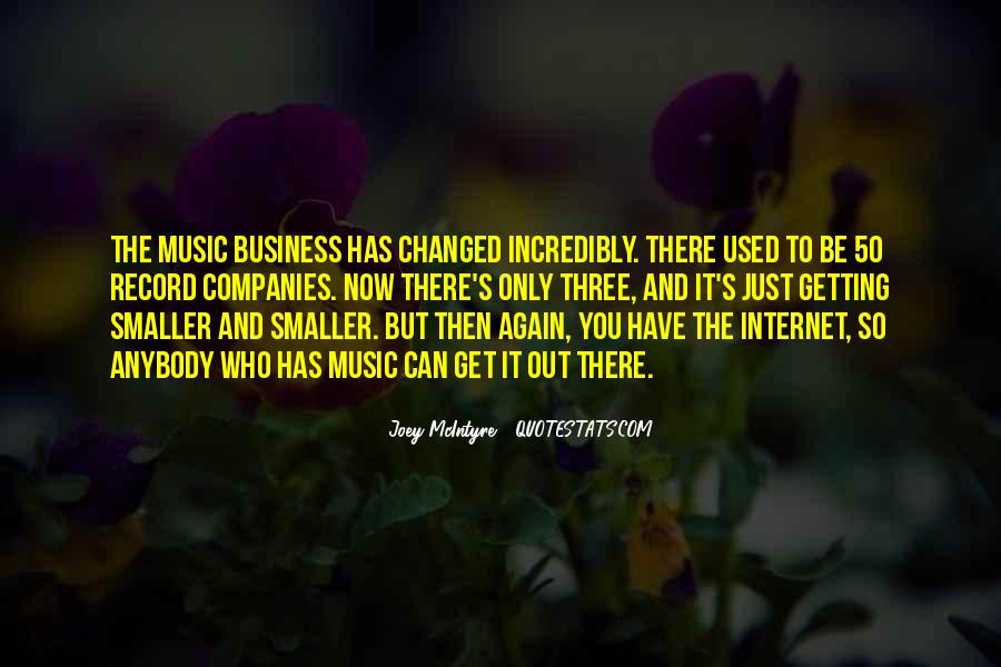 Music And Business Quotes #515098