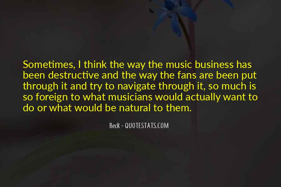 Music And Business Quotes #518228