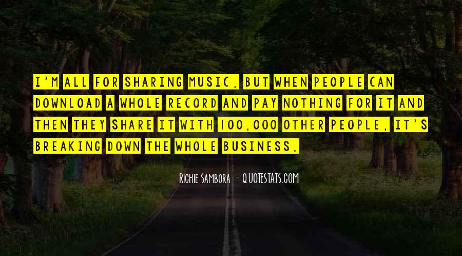 Music And Business Quotes #586232