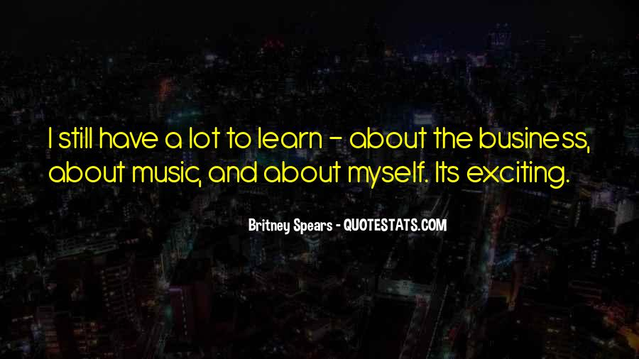 Music And Business Quotes #640100