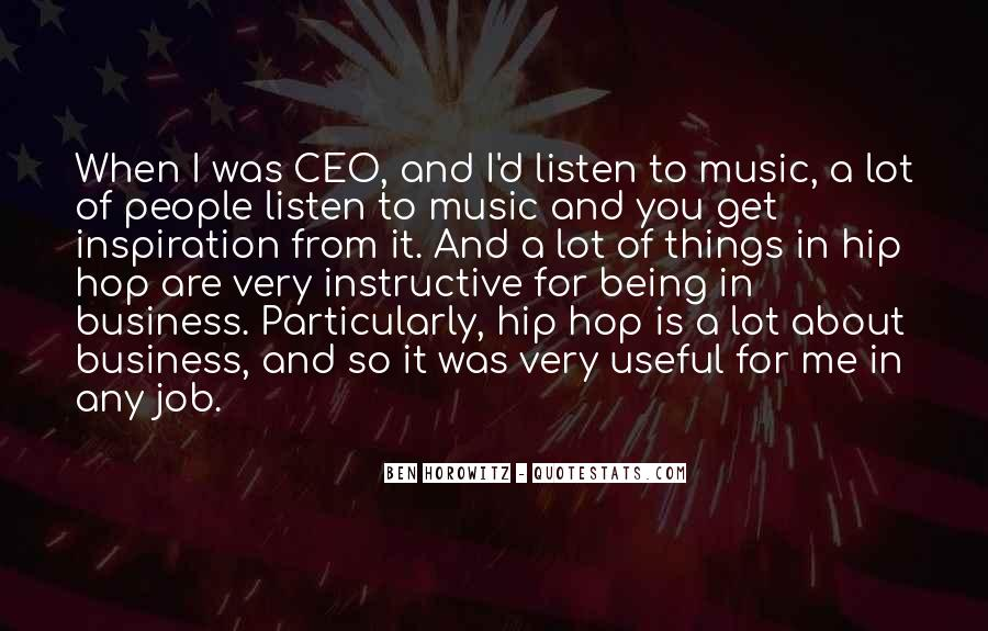 Music And Business Quotes #82331