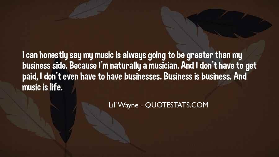 Music And Business Quotes #90603
