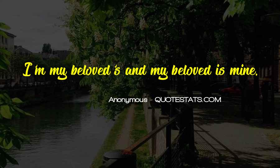 My Beloved Love Quotes #1596145