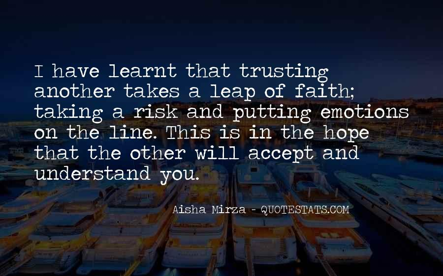 Quotes About Taking The Leap Of Faith #1644009