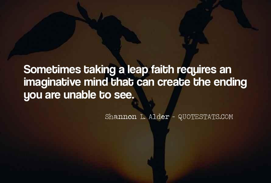 Quotes About Taking The Leap Of Faith #272189