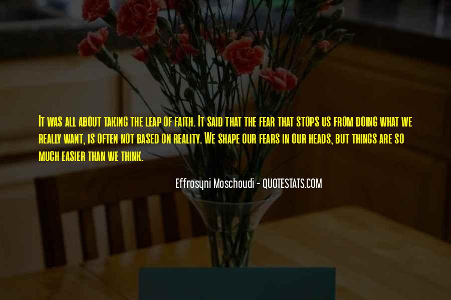 Quotes About Taking The Leap Of Faith #273570