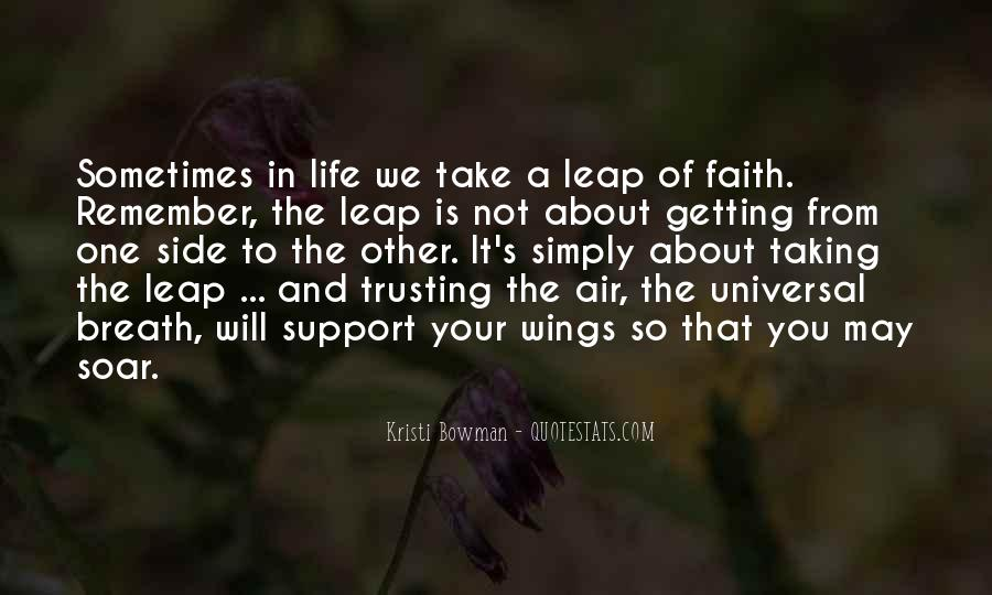 Quotes About Taking The Leap Of Faith #320881