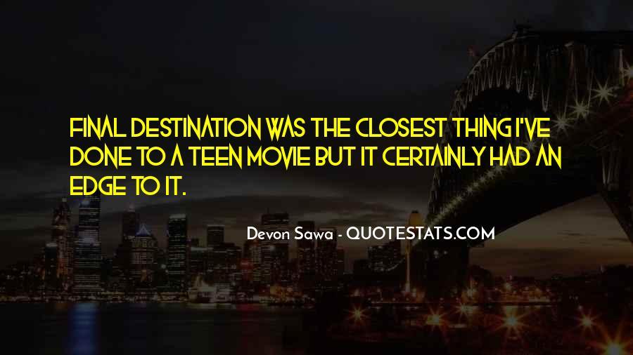 My Final Destination Quotes #998620
