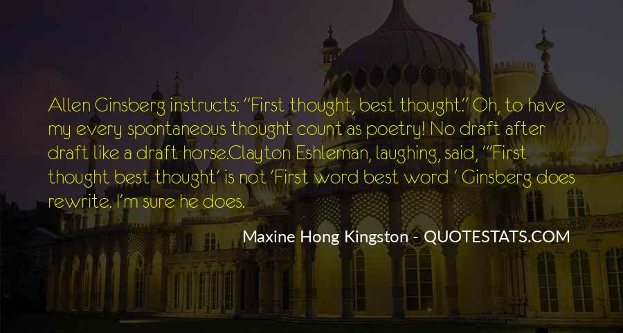 My First Horse Quotes #1823478