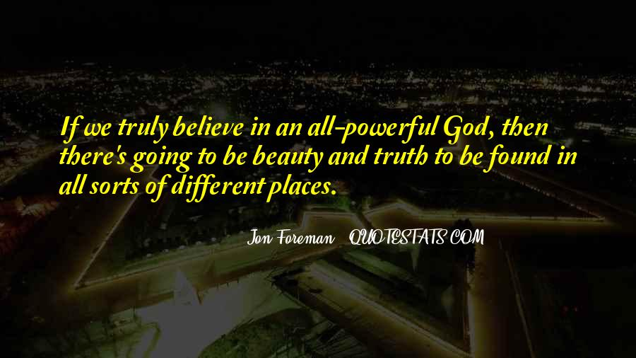 My God Is Powerful Quotes #192420