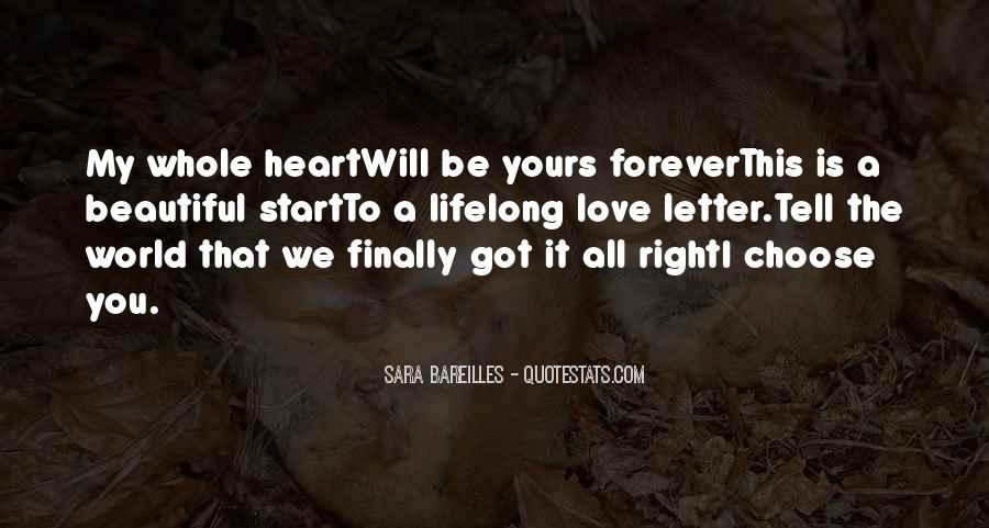 My Heart Is Forever Yours Quotes #545771