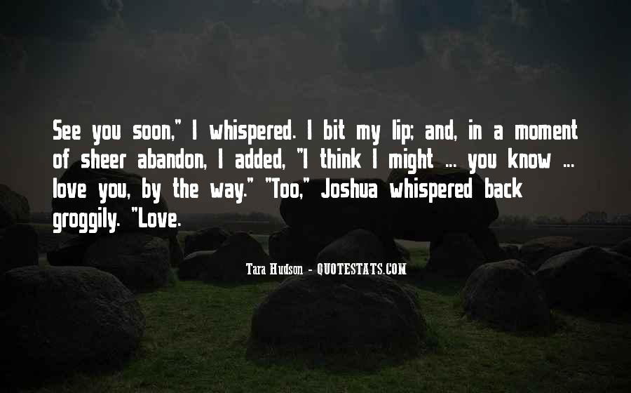 My Love Back Quotes #175163