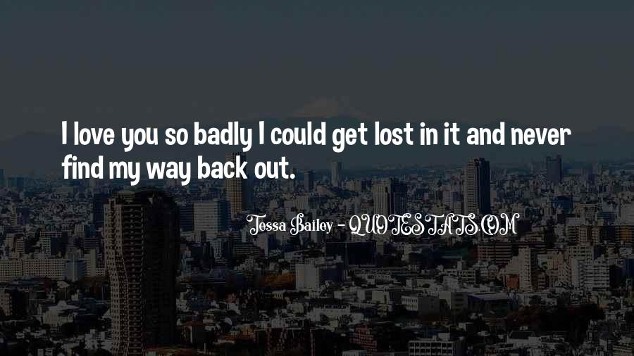 My Love Back Quotes #248835