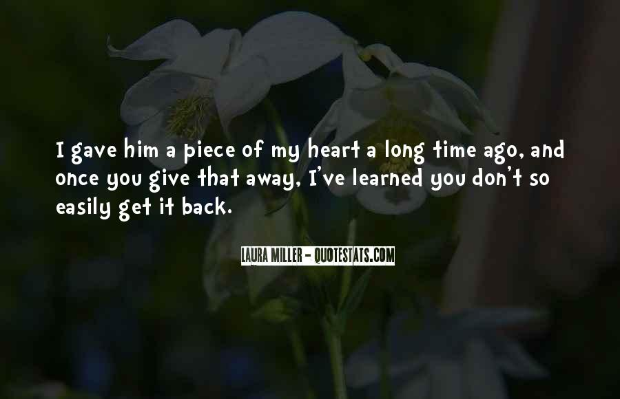 My Love Back Quotes #286909