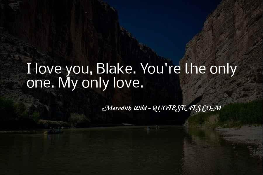 My Only Love Quotes #109669