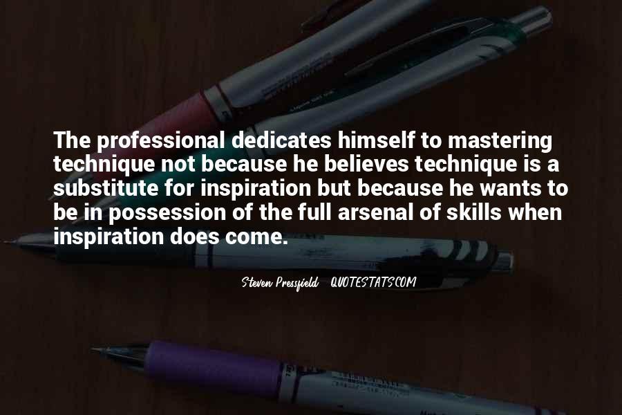 My Professional Skills Quotes #405692