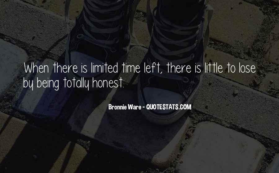 My Time Is Limited Quotes #252038