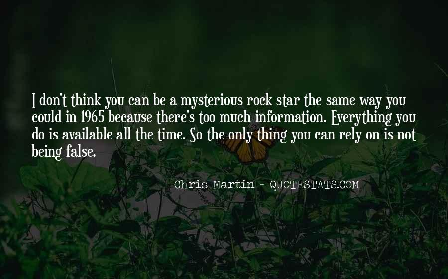 Mysterious Being Quotes #232295