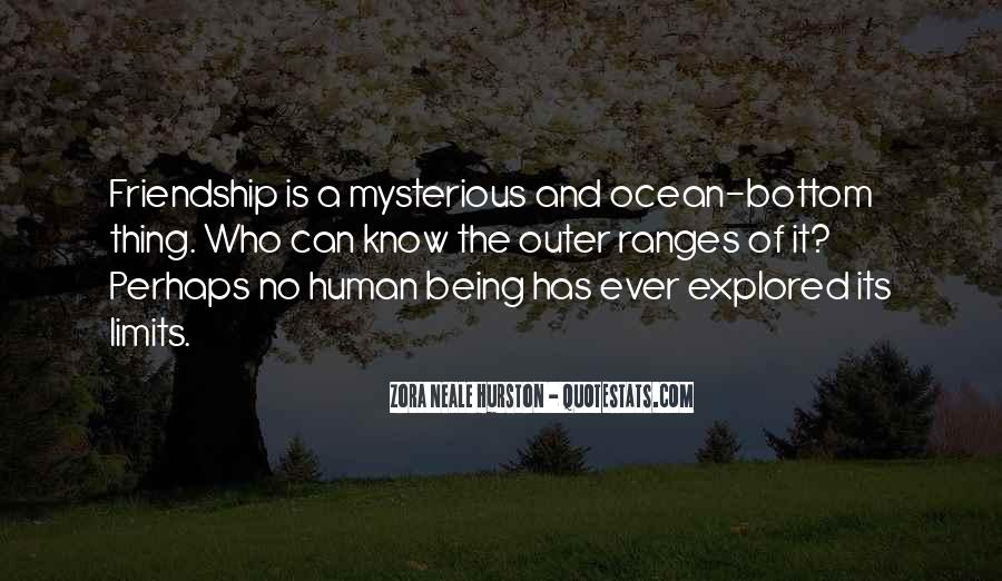 Mysterious Being Quotes #315477