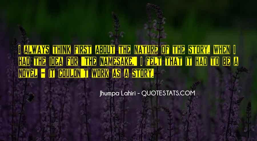Namesake Jhumpa Lahiri Quotes #958634