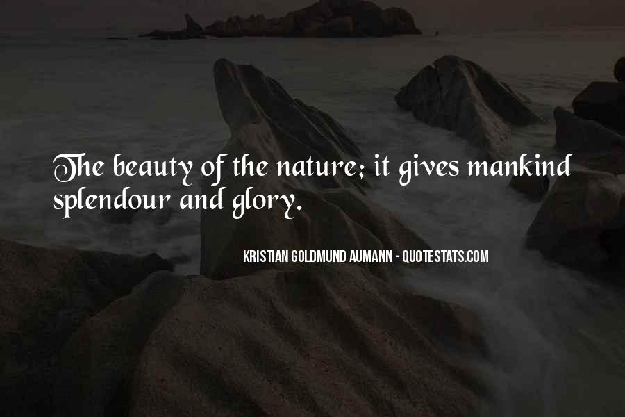 Nature Of Beauty Quotes #31016