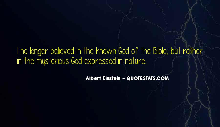 Nature Of God Bible Quotes #1079598