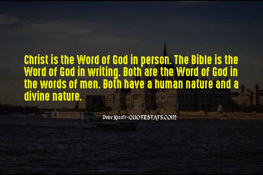 Nature Of God Bible Quotes #123966