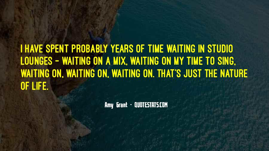 Nature Of Time Quotes #38498