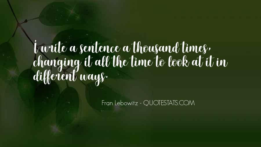 Quotes About Changing Times #405751