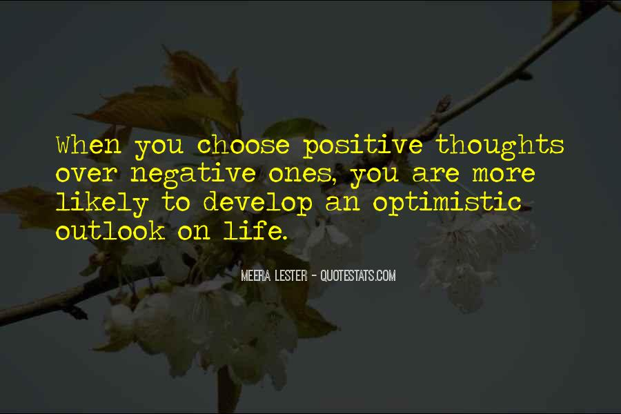 Negative Outlook On Life Quotes #1168685