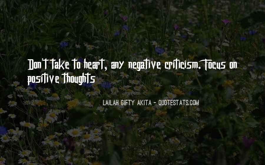 Negative Thoughts On Love Quotes #1049974