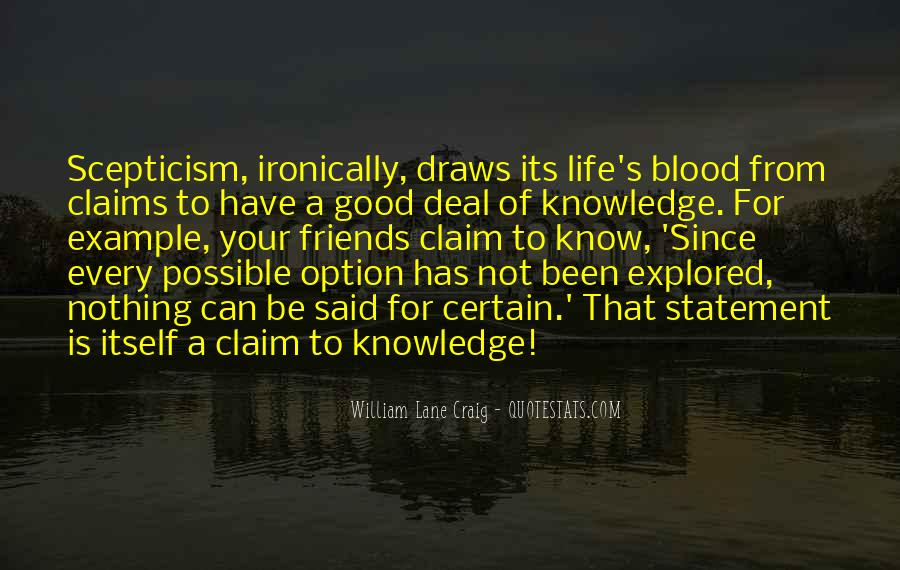 Quotes About Certain Knowledge #1065874