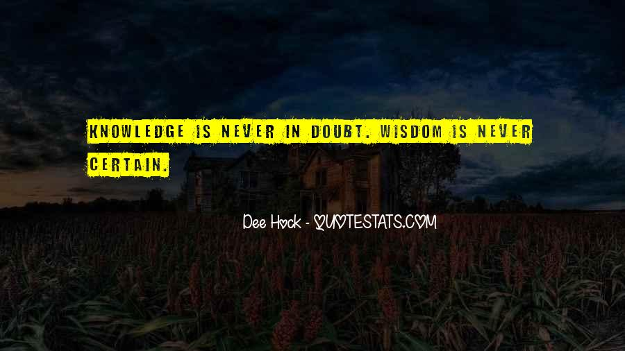 Quotes About Certain Knowledge #1206034