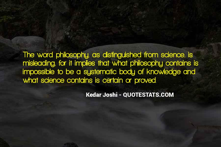 Quotes About Certain Knowledge #67090