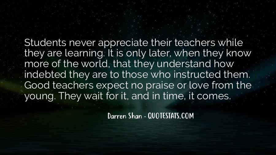 Never Appreciate Love Quotes #1231435